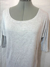New AMBIANCE APPAREL for Wet Seal Rayon tee shirt womens S Gray scoop top Soft
