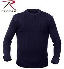 NAVY BLUE Military Army Commando Crew Neck Acrylic Sweater 6347