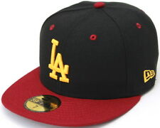 MLB Los Angeles Dodgers in Black with USC Colors New Era 59Fifty Fitted Hat