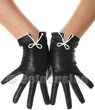 WOMEN'S CLASSIC BOW LEATHER GLOVES
