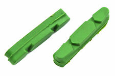 PAIR QUAD BRAKE BLOCKS 52mm PAD INSERT FOR CAMPAGNOLO 2000 GREEN 50% OFF QBB41