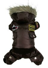 Red/Blue/Brown winter dog Coat Jacket USA AIR FORCE waterproof pet hoody clothes