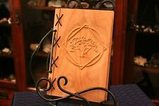 Small Customizable Wood & Leather Blank Journal, Book of Shadows - Bardic Circle