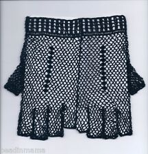 Pair of Crochet Cotton Fingerless Lace Gloves