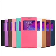 iPhox Magnetic Leather View Flip Case Cover  Samsung Galaxy S5 S6 Note 4 5 Edge+