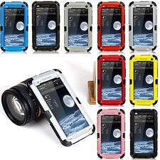 New Waterproof Dustproof Aluminum Metal Gorilla Glass Case Cover For HTC ONE M7