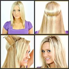 Invisible Remy Hair Extension Wire Headband Crown Extensions thick full 16''-30'