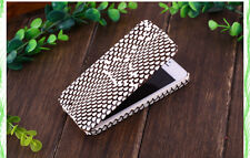 Cool Cobra Skin PU Leather Setting Flip Cover Pouch Case For Apple iPhone 5 5S