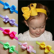 Hot 10Pcs Large 8cm Girls Baby Hair Bow Clips Grosgrain Ribbon Boutique Bows