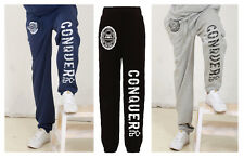 CONQUER ! zip pocket gym tracksuit BOTTOMS bodybuilding clothing, Joggers EPC
