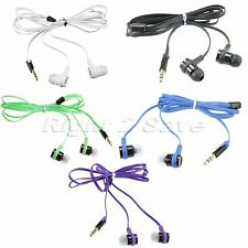 Hot Universal 3.5mm Stereo In-Ear Earphone Headphone Earbud Headset Flat Cable