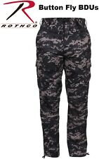 H.W. Subdued Urban Digital Camouflage Military BDU Cargo Fatigue Pants 9620