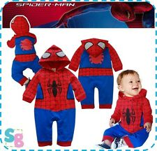 BOYS SPIDERMAN COSTUMES FANCY DRESS UP BIRTHDAY PARTY OUTFITS 6-9-12-18-24 MONTH