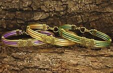 Stylish Hand Crafted Artisan Leather Bracelets:6 colors with silver/gold trim