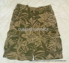 NWT AMERICAN EAGLE OUTFITTERS MEN'S 26 & 30 GREEN TROPICAL LEAF CARGO SHORTS NEW