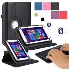 EEEKit for 7 Inch Tablet,Rotating Stand Cover Case+Wireless Bluetooth Keyboard