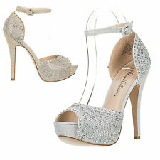 New Women's High Heel Ankle Strap Platform Peep Toe Dress Bridal Sandal VICE-135