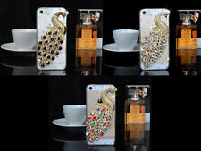 3D Bling Peacock Diamond clear case for Apple iPhone 5/5S, iPhone 6, Galaxy S5