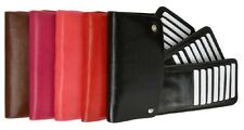 Credit Card Organizer Wallet Snap Lock Secure 3 Multiple Swivel out Slots