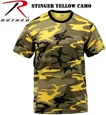 STINGER YELLOW Camouflage Tactical Military Short Sleeve Army Camo T-Shirt 5994