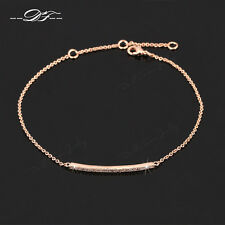 Micro Paved CZ Stone Simple Elegant Chain Bracelet & Bangle Jewelry For Women