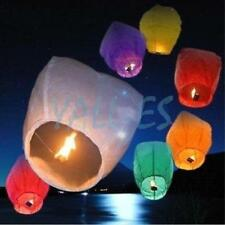 100x Chinese Wish Lanterns Paper Sky Fire Flying Wedding Party Lamp Multi Color