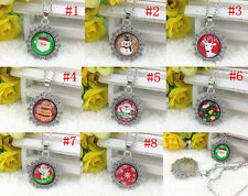 HOT! 1/5/10PCS Christmas Gift Silver Plated CHAIN NECKLACE