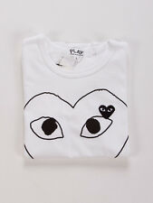COMME DES GARCONS CDG PLAY HEART IN WHITE T-SHIRT