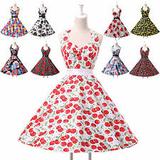 ❤Cyber FAST❤ Vintage Floral Retro 50s 60s swing Pinup Rockabilly Housewife Dress