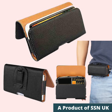 PU Leather Belt Waist Pouch Loop Clip Phone Case Apple Samsung LG Sony Google Nx
