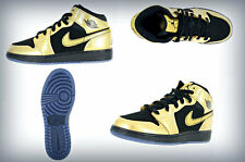 Air Jordan 1 Mid (GS) MTLC GOLD COIN/BLACK  555112-905
