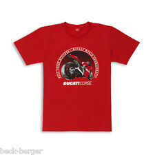 Ducati Graphic Corse Race Track Super Bike Short Sleeve T - Shirt Red New 2013!!
