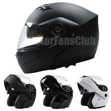 Adult Motorcycle Modular Flip Up Helmet Dual Visor Sun Shield Full Open Face