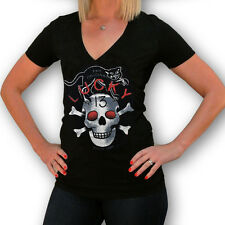 Lucky 13 Black Cat Women's Black Tee - XL, 2XL - Brand New Designs!