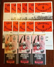 Moseley Rugby Programmes 1972 - 1976
