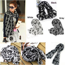 Fashion Women Accessories Skull Head Soft Skeleton Long Wrap Scarves Shawl Scarf