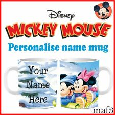 Mickey & Minnie Mouse Personalised Mug and Tea Cup Childrens Birthday Gifts