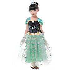 New Year Anna Princess Girl Dress for 2-8T Kids Party Costume Fancy Outfit Cloth