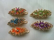 Free shipping lady women hair clips flower pins opal claws rhinestone crystal