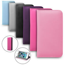 NEW LEATHER FLIP WALLET CASE COVER FOR IPHONE 4 5 5S GALAXY S4 S5 NOTE 2 3