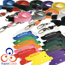 Premium ID Lanyard & Badge Holder for ID Cards Free Delivery Choose Your Colour