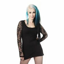 GOTHIC TOP VIXXSIN DARLING TOP LADIES BLACK POIZEN INDUSTRIES  PUNK CLUB STYLE