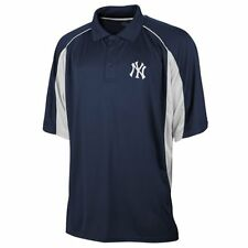New York Yankees Majestic Embroidered Blue Dri-Fit Polo Golf Shirt