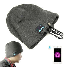 USB Wireless Bluetooth Smart Music Phone Call Cap Headset Speaker Mic Beanie Hat