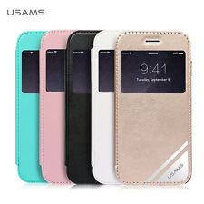 USAMS Viva Series PU Leather Flip Window Case Cover for iPhone 6 Plus 5.5""