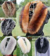 Women's Faux Raccoon Fur Scarf Scarves Collar Shawl Wraps Stole Hood Trim Fluffy