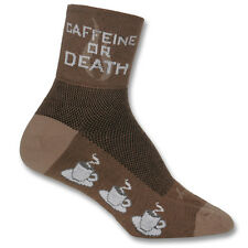"SOCKGUY CLASSIC 3"" SOCKS COFFEE CAFFEINE OR DEATH Funny Bike Bicycle Sports"