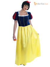 Adult Ladies Snow White Fairytale Princess Womens Fancy Dress Costume Plus Size
