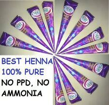 100 % Natural BROWN  HENNA CONES TUBES Body art temporary tattoo ink - PICK  Qty