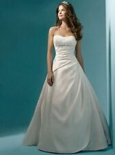 2014 New White/Ivory wedding dress bridal Gown stock size 6/8/10/12/14/16+++